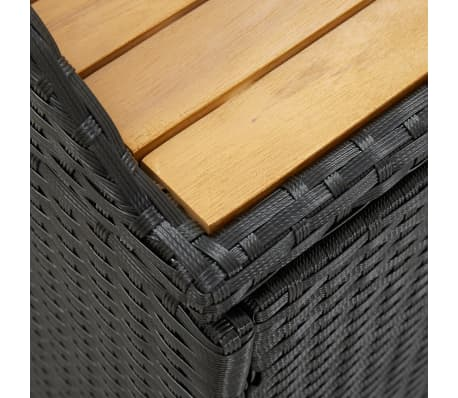 "vidaXL Garden Storage Bench 47.2"" Poly Rattan Black[7/8]"