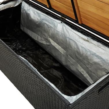 "vidaXL Garden Storage Bench 47.2"" Poly Rattan Black[6/8]"