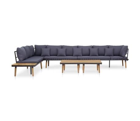 vidaXL 7 Piece Garden Lounge Set with Cushions Solid Acacia Wood