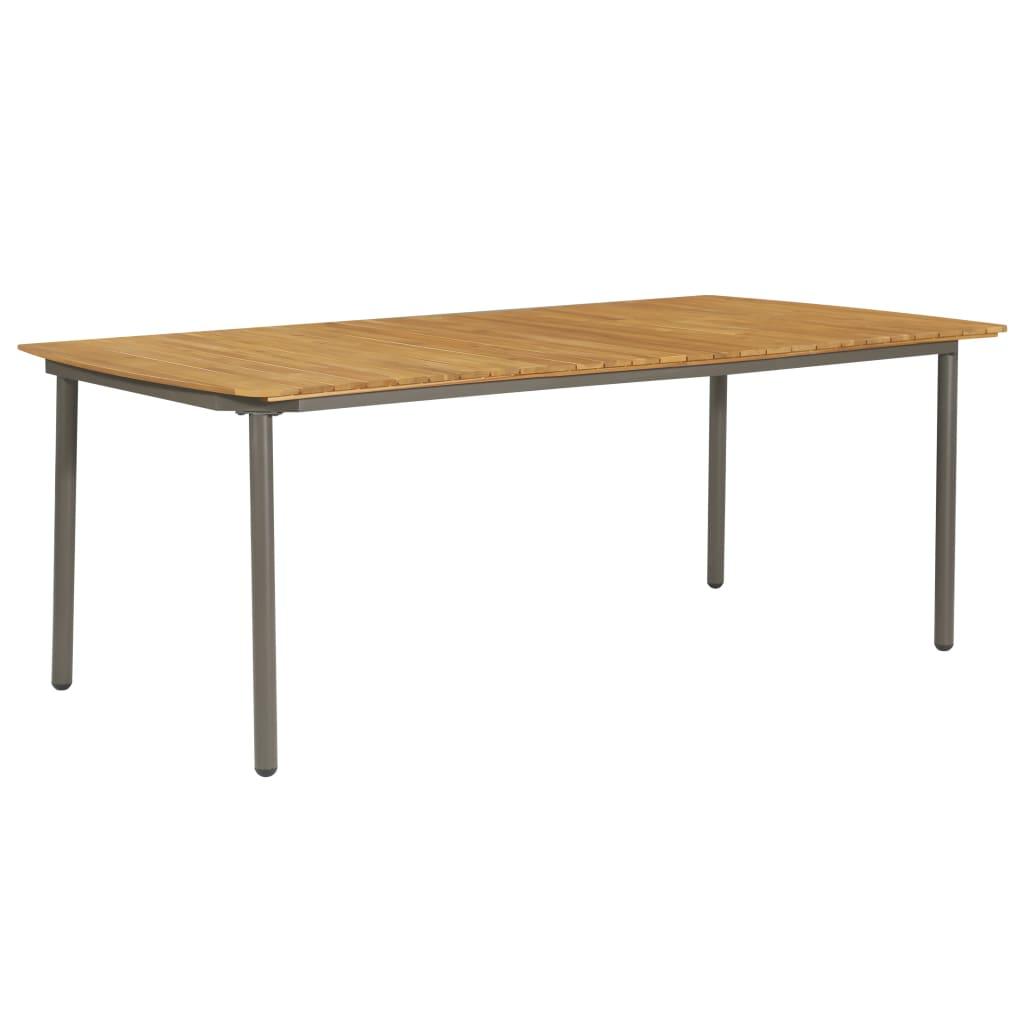 vidaXL Stół ogrodowy, 200x100x72 cm, lite drewno akacjowe i stal