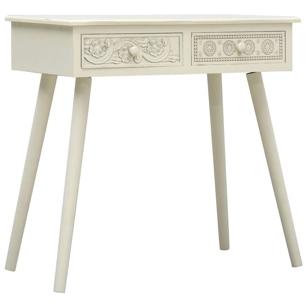 vidaXL Masă consolă cu 2 sertare sculptate, gri, 80x40x77,8 cm, lemn poza 2021 vidaXL