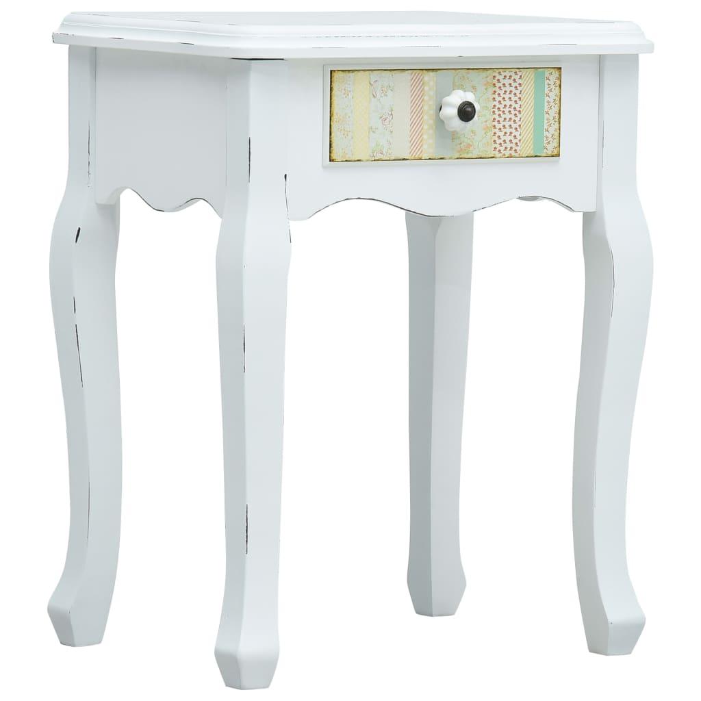 vidaXL Noční stolek bílý 40 x 30 x 50,5 cm dřevo