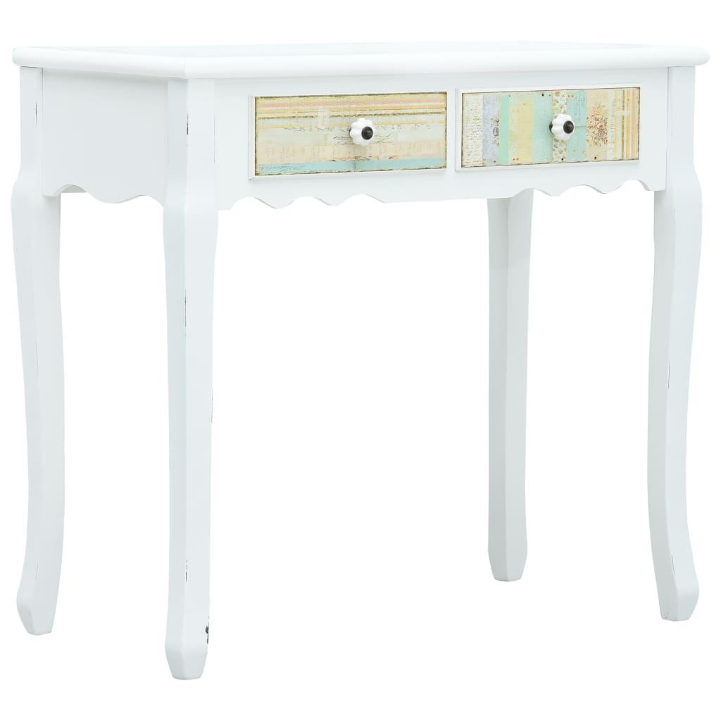 vidaXL Konzolni stol bijeli 80 x 40 x 74 cm drveni