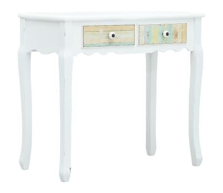 vidaXL Konzolový stolek bílý 80 x 40 x 74 cm dřevo