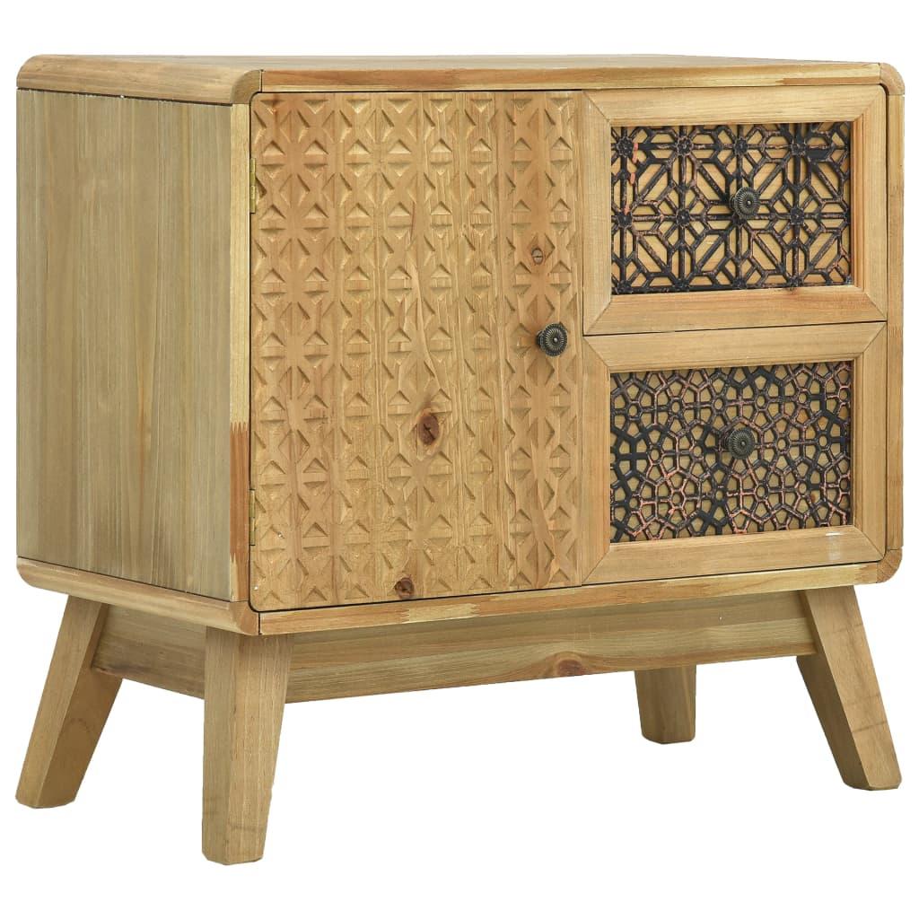 vidaXL Příborník hnědý 60 x 30 x 56,5 cm dřevo