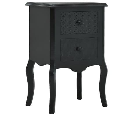vidaXL Noptieră, negru, 43 x 32 x 65 cm, MDF