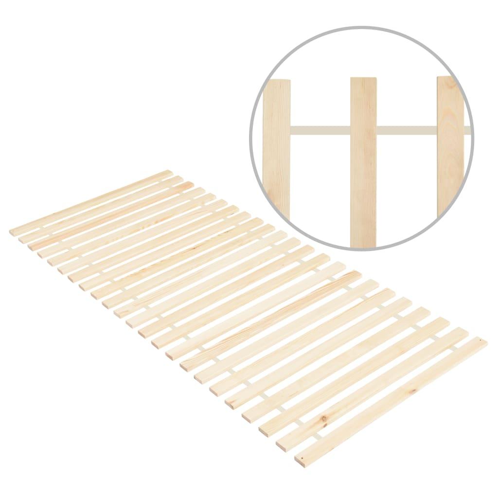 vidaXL Bază de pat rulabilă cu 23 șipci, 80x200 cm, lemn masiv de pin poza 2021 vidaXL