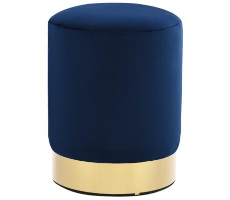 vidaXL Pall blå och guld sammet