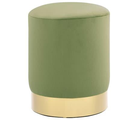 vidaXL Pall grön och guld sammet