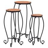 vidaXL Mosaic Tables 3 pcs Terracotta Ceramic
