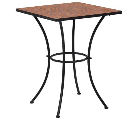 vidaXL Mozaikový bistro stolek terakotový 60 cm keramika