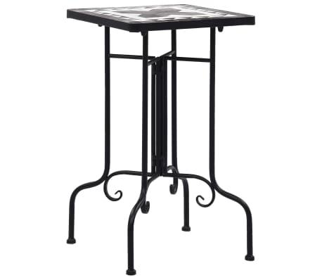 vidaXL Mozaični bočni stolić crno-bijeli keramički