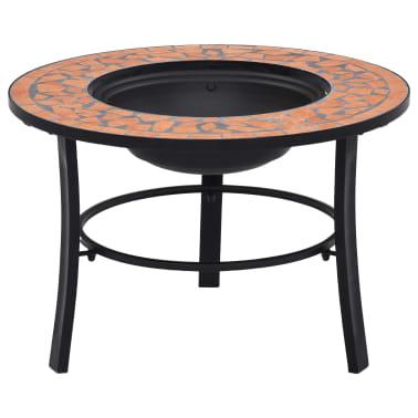 "vidaXL Mosaic Fire Pit Terracotta 26.8"" Ceramic[1/9]"