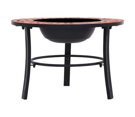 "vidaXL Mosaic Fire Pit Terracotta 26.8"" Ceramic[2/9]"