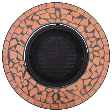 "vidaXL Mosaic Fire Pit Terracotta 26.8"" Ceramic[6/9]"