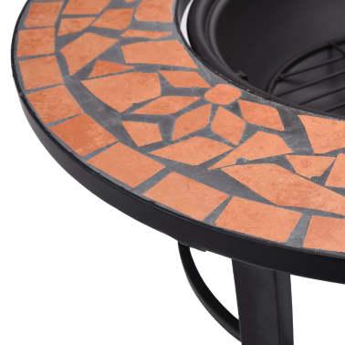 "vidaXL Mosaic Fire Pit Terracotta 26.8"" Ceramic[7/9]"