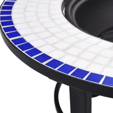 "vidaXL Mosaic Fire Pit Blue and White 26.8"" Ceramic[7/9]"