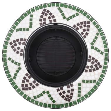 """vidaXL Mosaic Fire Pit Green 26.8"""" Ceramic[6/9]"""