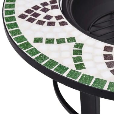 """vidaXL Mosaic Fire Pit Green 26.8"""" Ceramic[7/9]"""