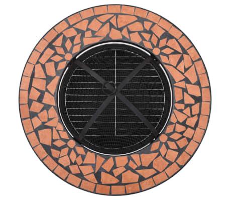 "vidaXL Mosaic Fire Pit Table Terracotta 26.8"" Ceramic[8/9]"