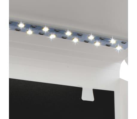 vidaXL Boîte à lumière de studio LED pliable 23x25x25 cm Blanc[3/8]
