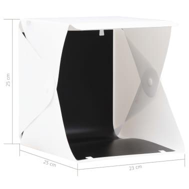 vidaXL Boîte à lumière de studio LED pliable 23x25x25 cm Blanc[8/8]