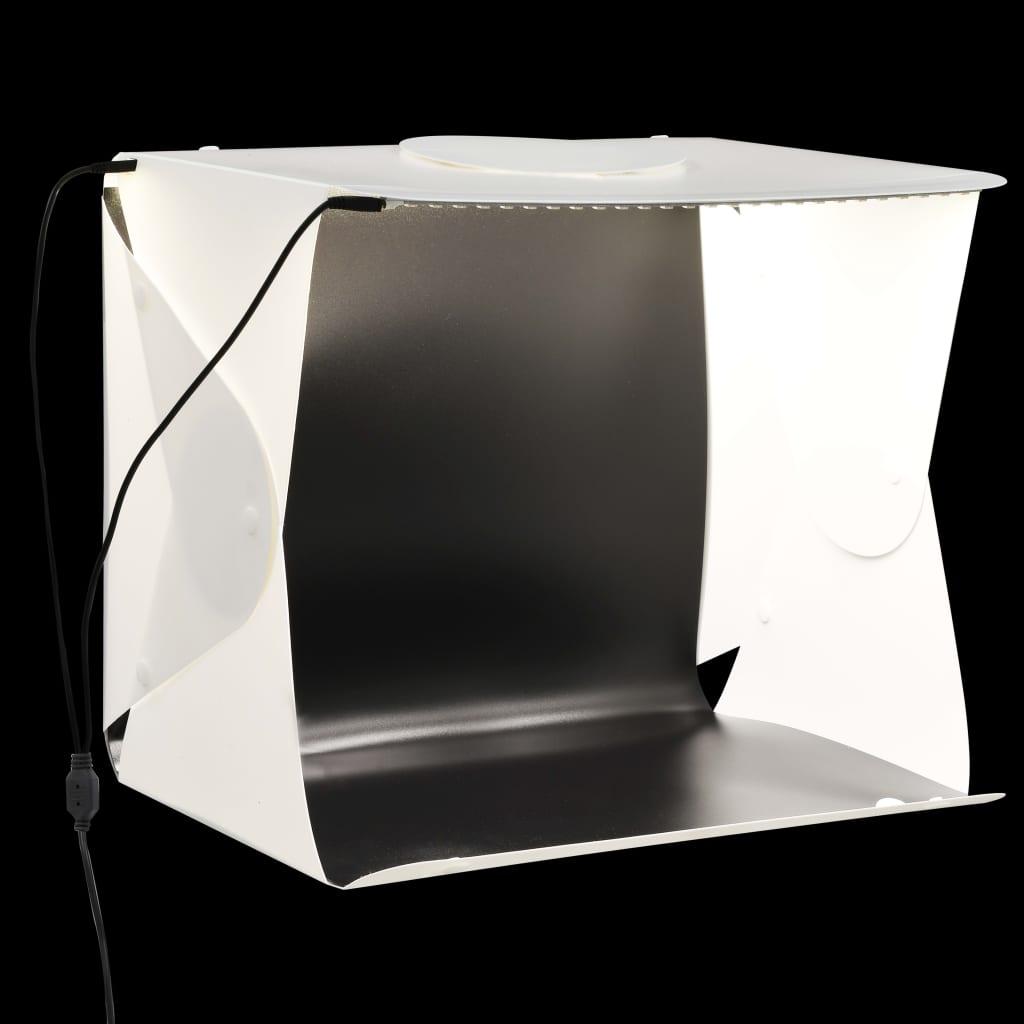 Kokkupandav LED fotostuudio valguskast 40x34x37 c..