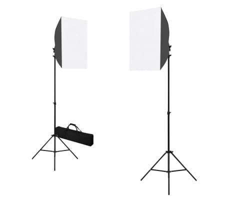 vidaXL Profesionální studiová světla 2 ks 40 x 60 cm ocel černá