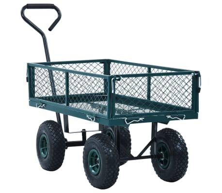 vidaXL Garden Hand Trolley Green 551.2 lbs