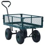 vidaXL Tuinwagen 250 kg groen