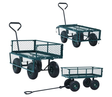 vidaXL Garden Hand Trolley Green 551.2 lbs[3/11]