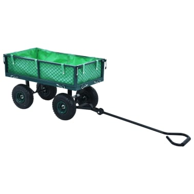 vidaXL Garden Hand Trolley Green 551.2 lbs[7/11]