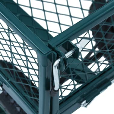 vidaXL Garden Hand Trolley Green 551.2 lbs[8/11]