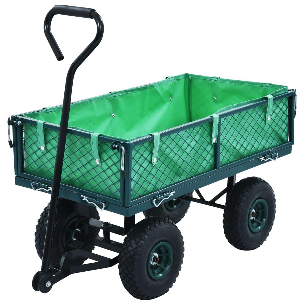 Zahradní ruční vozík zelený 250 kg
