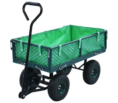 vidaXL Garden Hand Trolley Green 551.2 lbs[1/11]