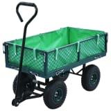 vidaXL Garden Hand Trolley Green 250 kg