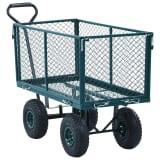 vidaXL Ogrodowy wózek ręczny, zielony, 350 kg