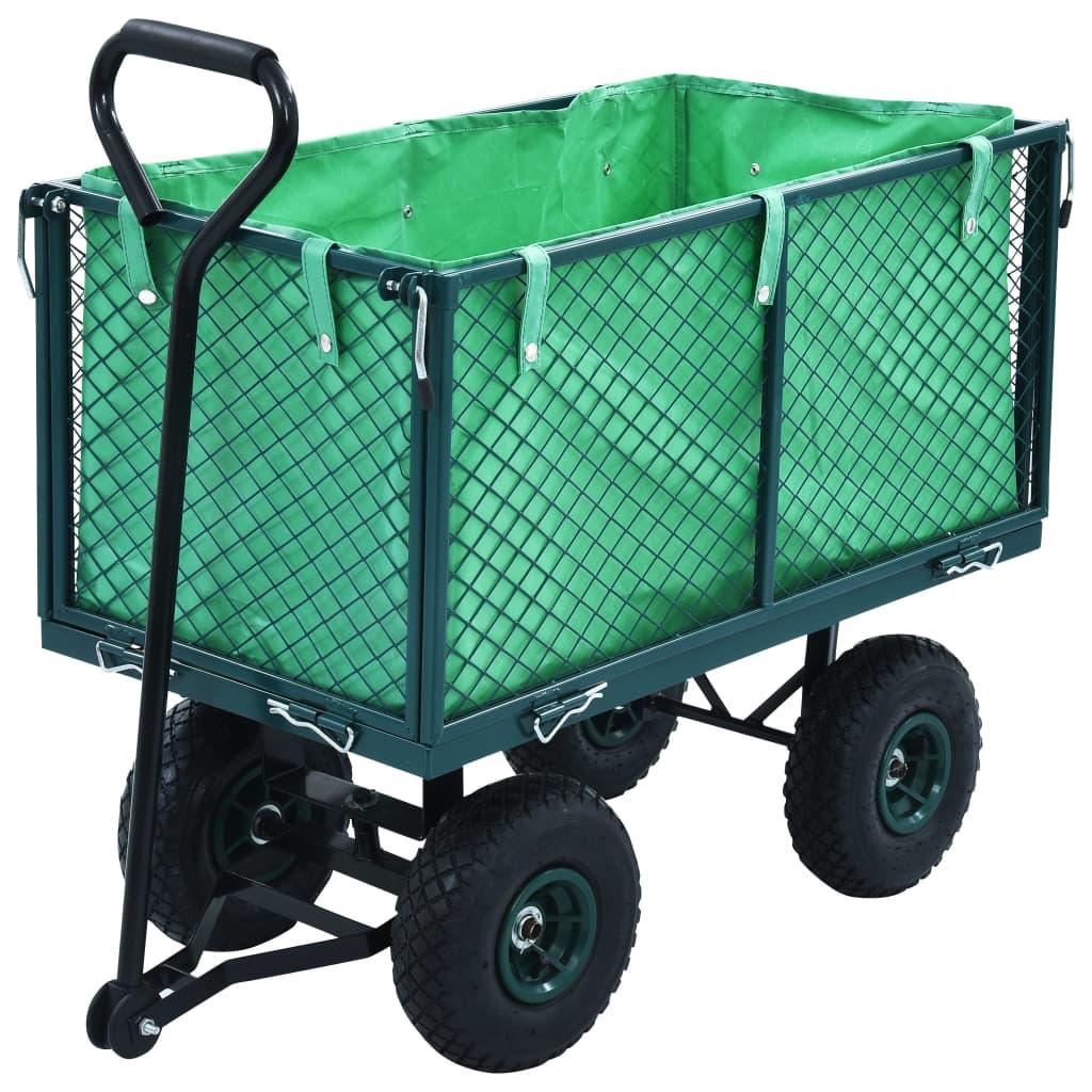 Zahradní ruční vozík zelený 350 kg