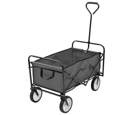 vidaXL Folding Hand Trolley Steel Gray