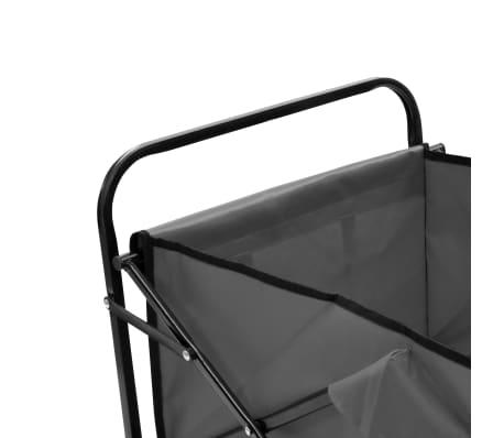 vidaXL Folding Hand Trolley Steel Gray[4/8]