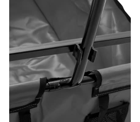 vidaXL Folding Hand Trolley Steel Gray[5/8]