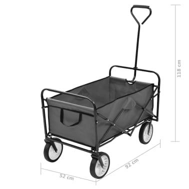 vidaXL Folding Hand Trolley Steel Gray[8/8]