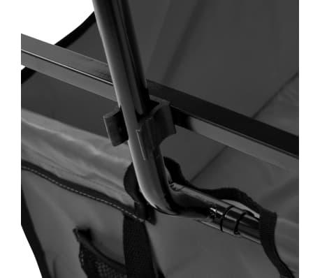 vidaXL Folding Hand Trolley with Canopy Steel Gray[6/9]