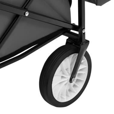 vidaXL Folding Hand Trolley with Canopy Steel Gray[8/9]
