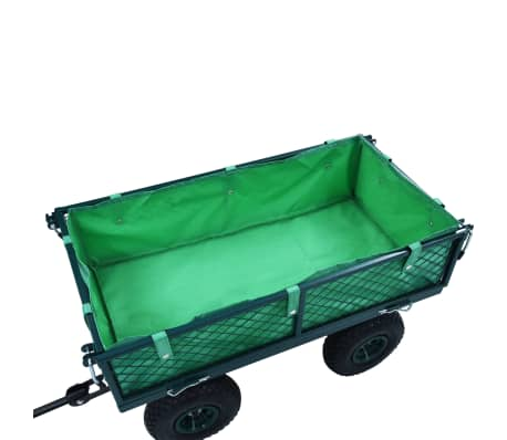 vidaXL Garden Cart Liner Green Fabric[4/4]