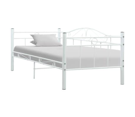 vidaXL Estructura de cama de metal blanco 90x200 cm