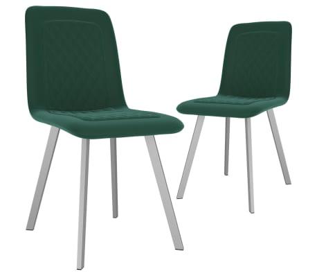 Wprowadź odrobinę nowoczesności do swojej jadalni lub salonu dzięki naszym wygodnym i stabilnym krzesłom! Tapicerowane wysokiej jakości aksamitem meble zapewniają komfort. Zestaw 2 krzeseł stołowych został estetycznie i ergonomicznie zaprojektowany, aby stać się przytulnym akcentem w Twoim domu.