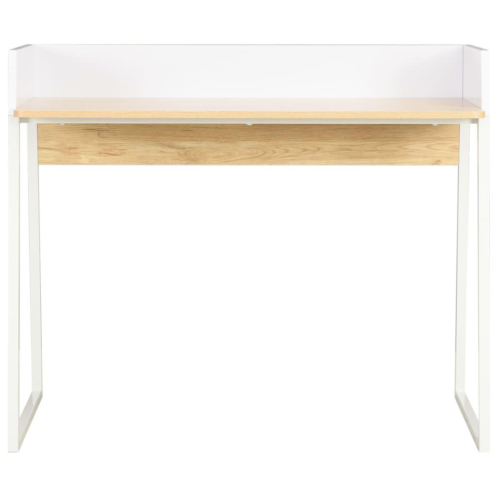 Psací stůl bílý a dubový odstín 90 x 60 x 88 cm