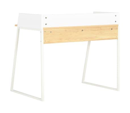 vidaXL Bureau Blanc et chêne 90 x 60 x 88 cm[4/7]