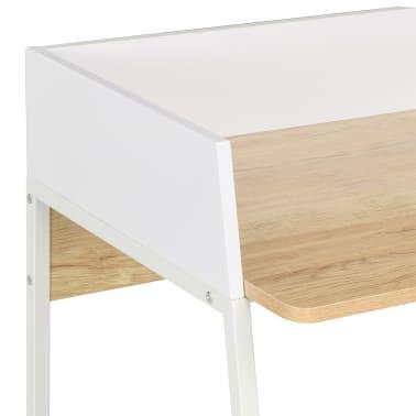 vidaXL Bureau Blanc et chêne 90 x 60 x 88 cm[5/7]